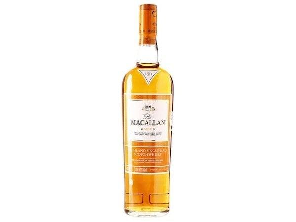 whisky macallan amber botella