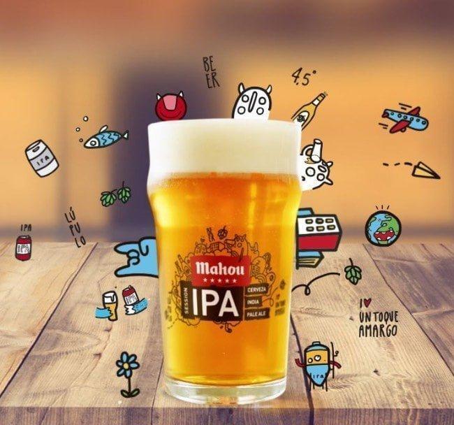 mahou ipa session cerveza intensamente lupulada