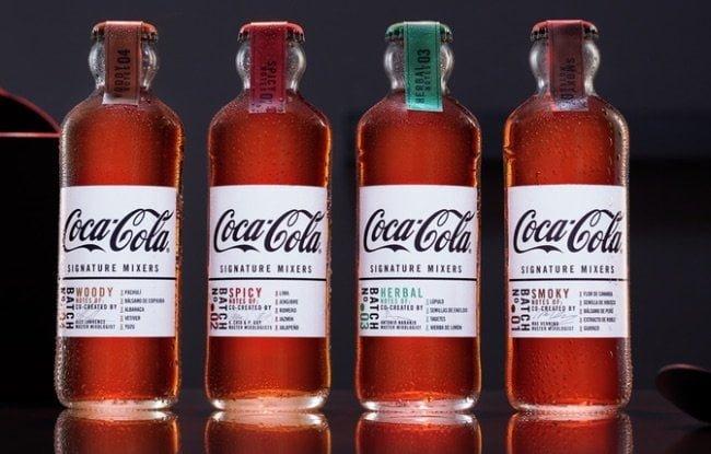 coca cola signature mixers botellas cuatro variedades