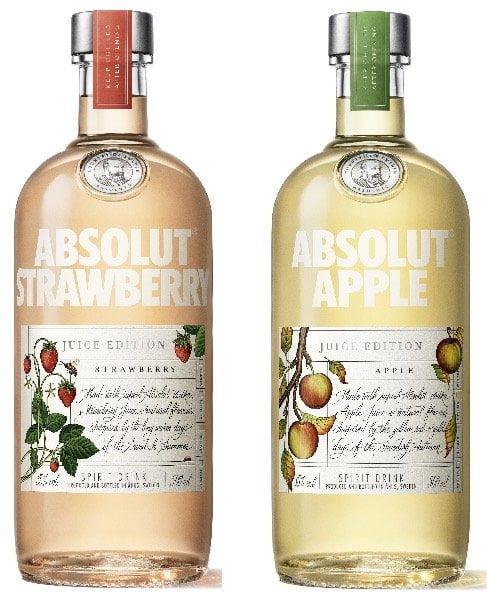 absolut juice strawberry apple bottle