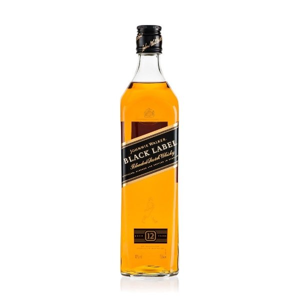 johnnie walker black label whisky JW etiqueta negra